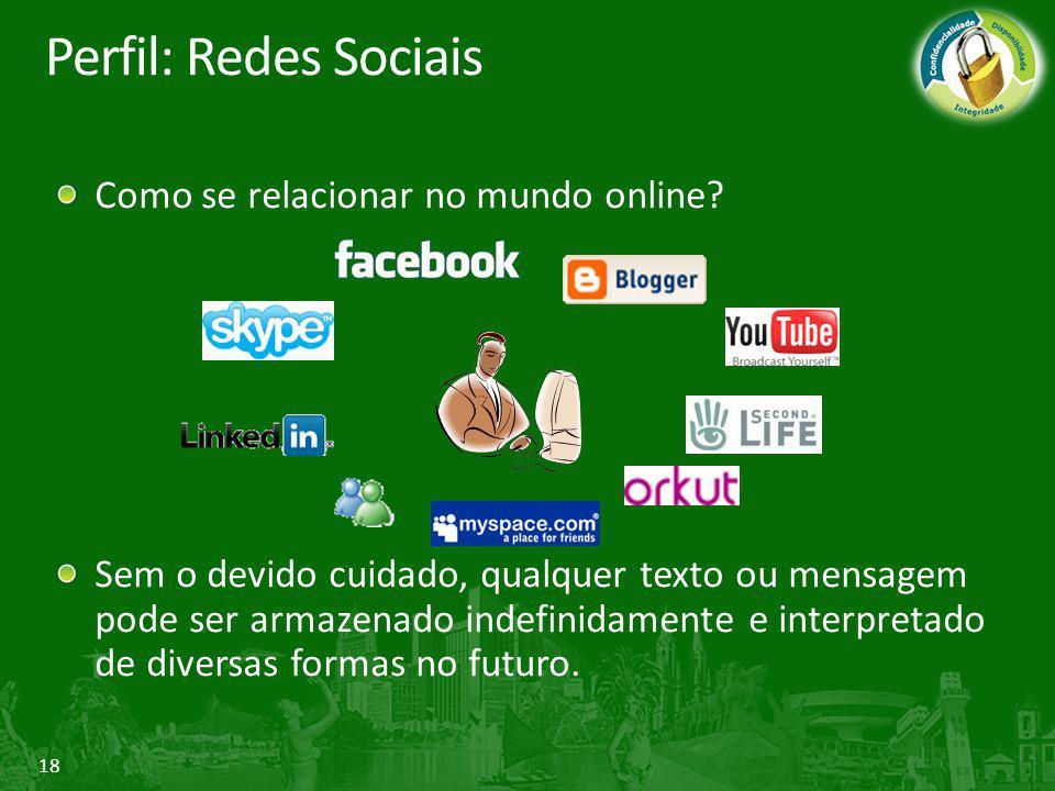Perfil: Redes Sociais Como se relacionar no mundo online