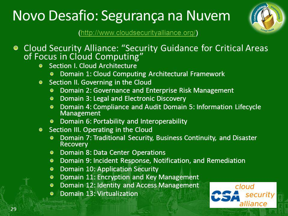 Novo Desafio: Segurança na Nuvem