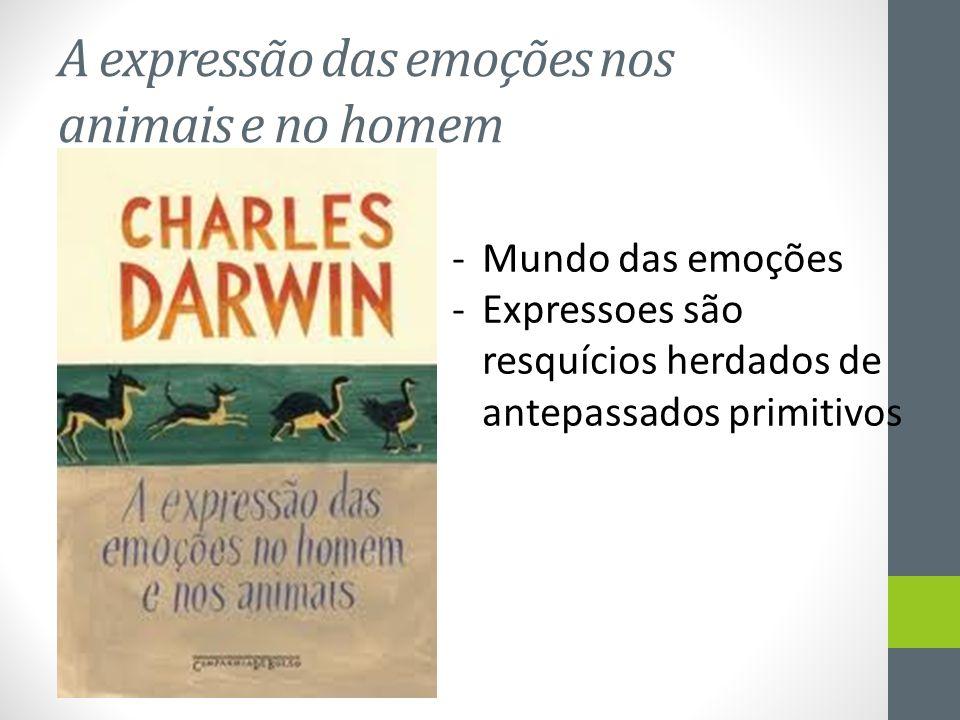 A expressão das emoções nos animais e no homem