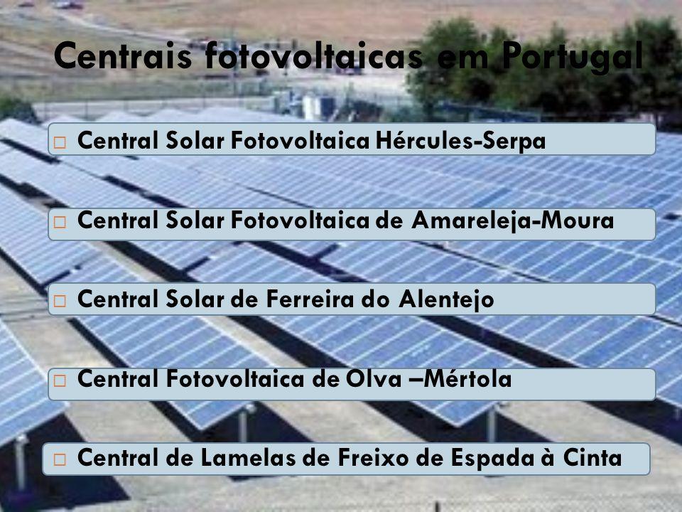 Centrais fotovoltaicas em Portugal