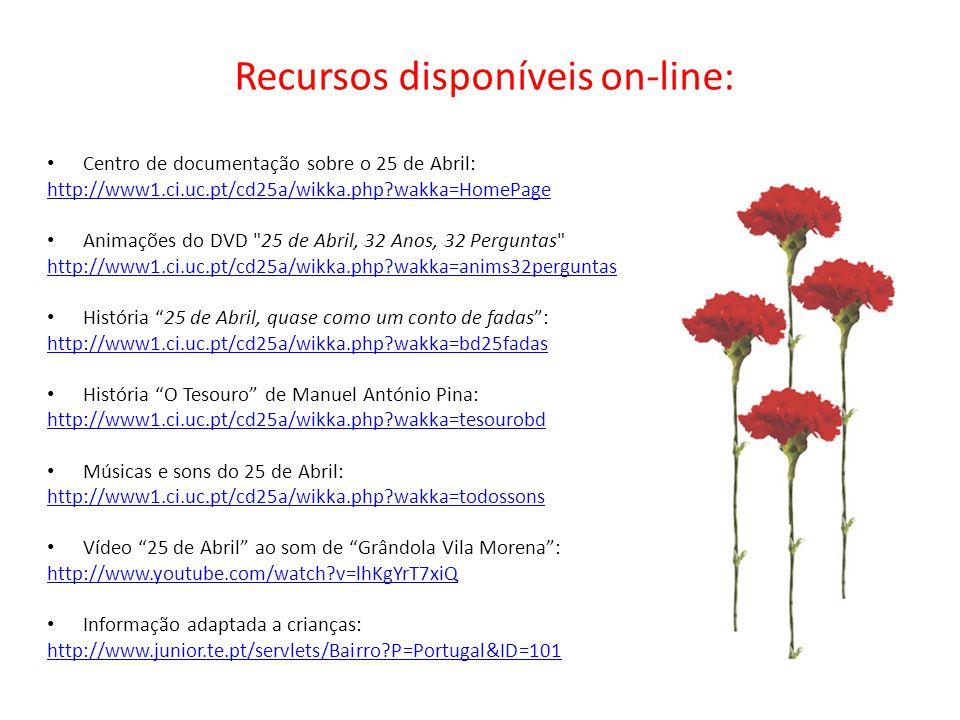 Recursos disponíveis on-line:
