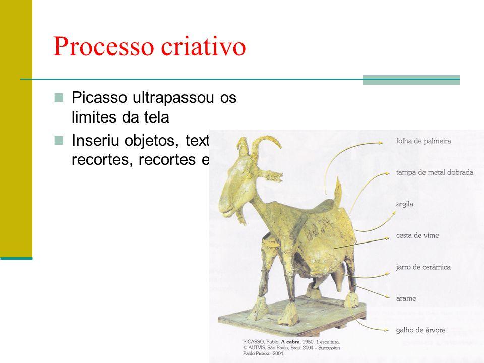Processo criativo Picasso ultrapassou os limites da tela