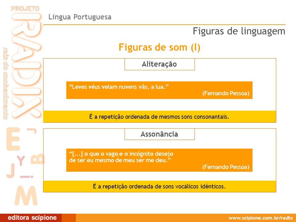 Figuras de linguagem Figuras de som (I) Aliteração Assonância