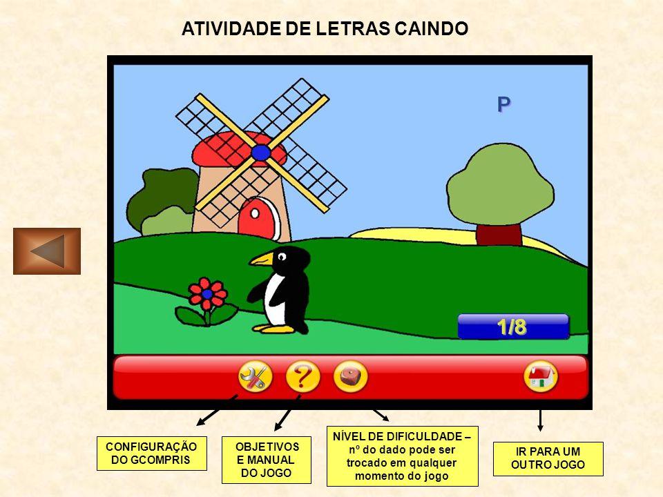 ATIVIDADE DE LETRAS CAINDO