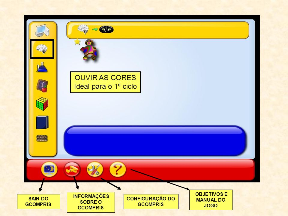OUVIR AS CORES Ideal para o 1º ciclo OBJETIVOS E MANUAL DO JOGO