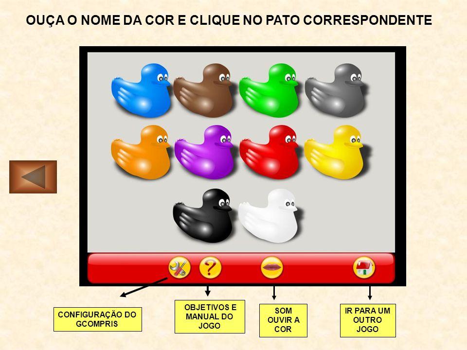 OUÇA O NOME DA COR E CLIQUE NO PATO CORRESPONDENTE