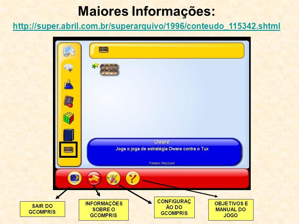 Maiores Informações: http://super.abril.com.br/superarquivo/1996/conteudo_115342.shtml. CONFIGURAÇÃO DO GCOMPRIS.