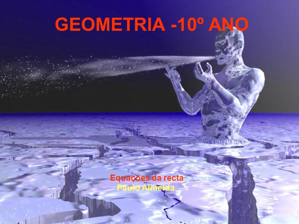 Equações da recta Paulo Almeida