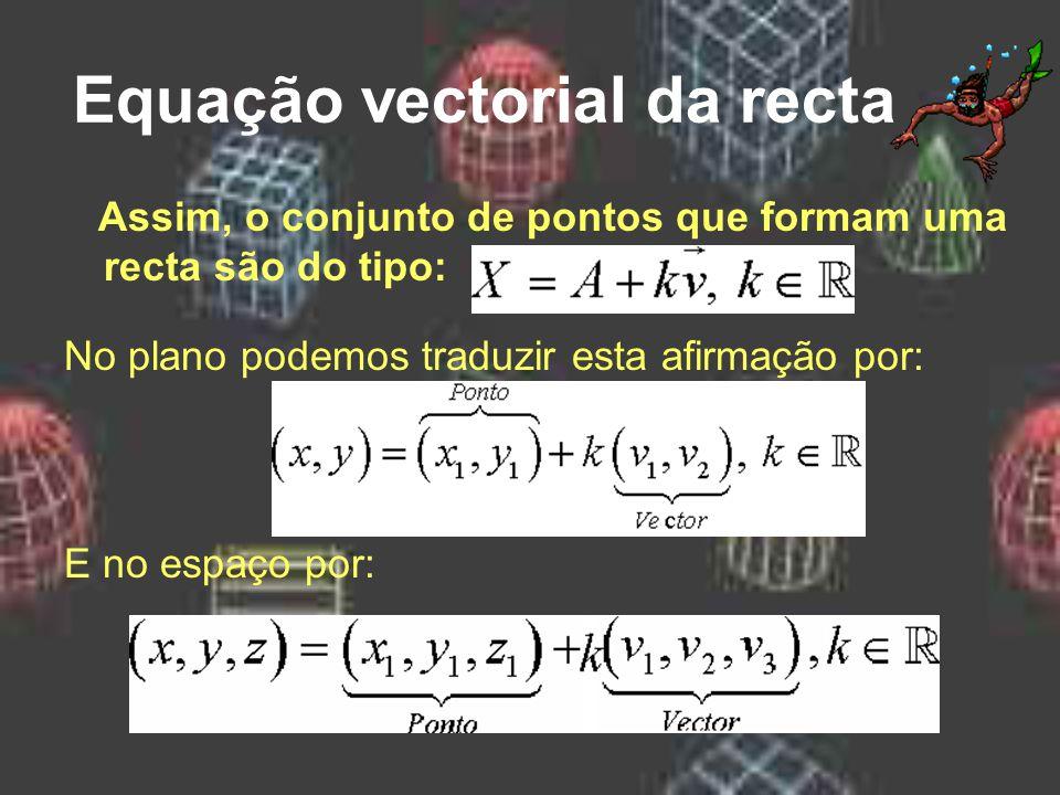Equação vectorial da recta