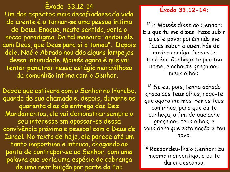 Êxodo 33.12-14
