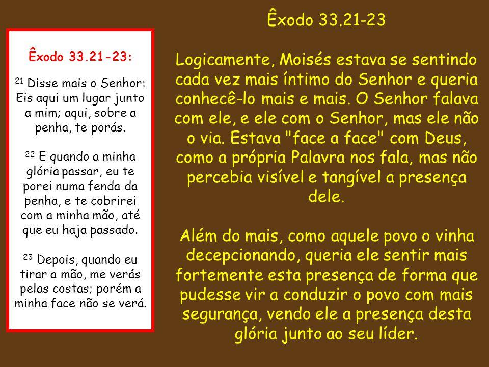 Êxodo 33.21-23