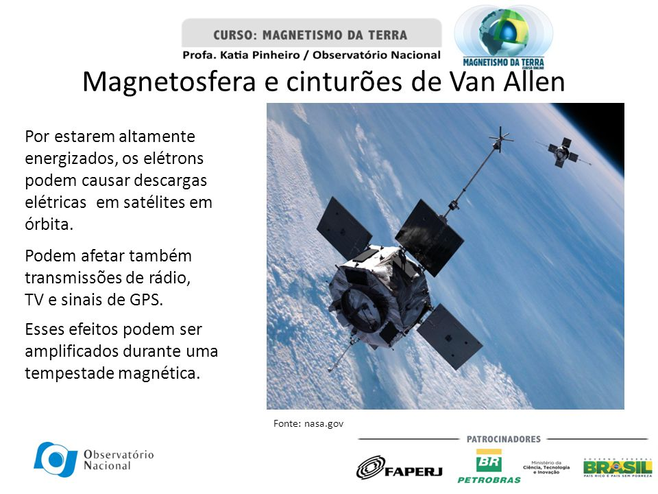 Magnetosfera e cinturões de Van Allen