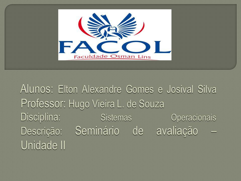 Alunos: Elton Alexandre Gomes e Josival Silva Professor: Hugo Vieira L