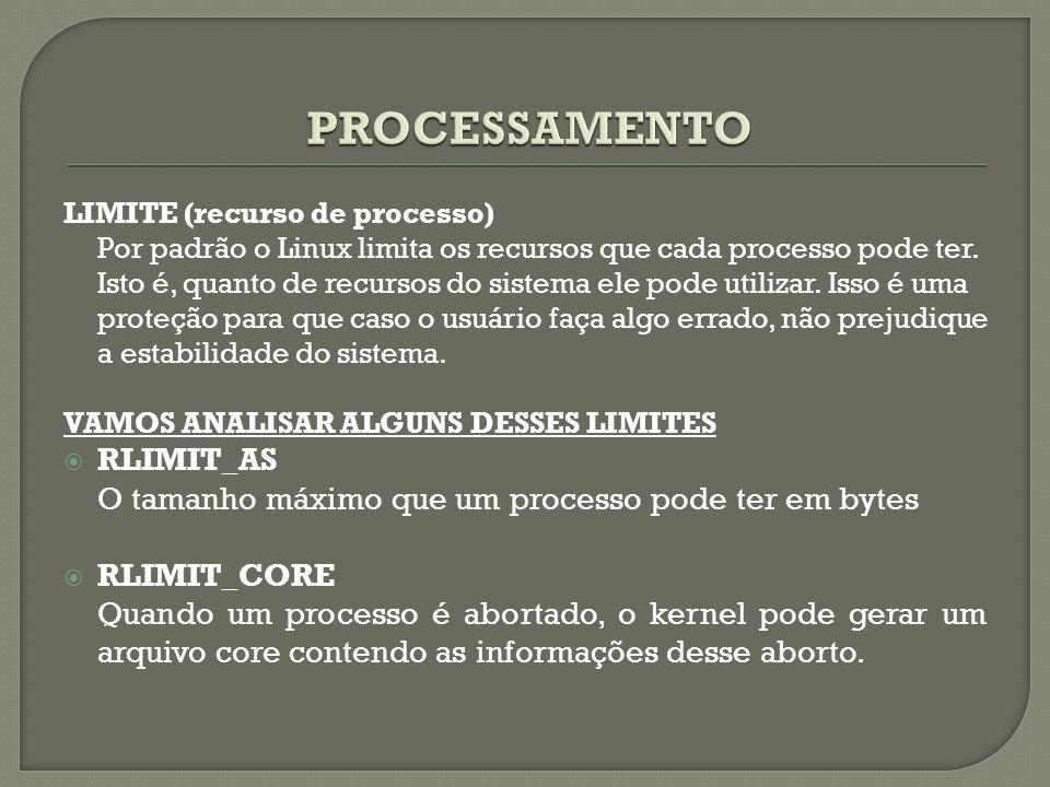 PROCESSAMENTO RLIMIT_AS