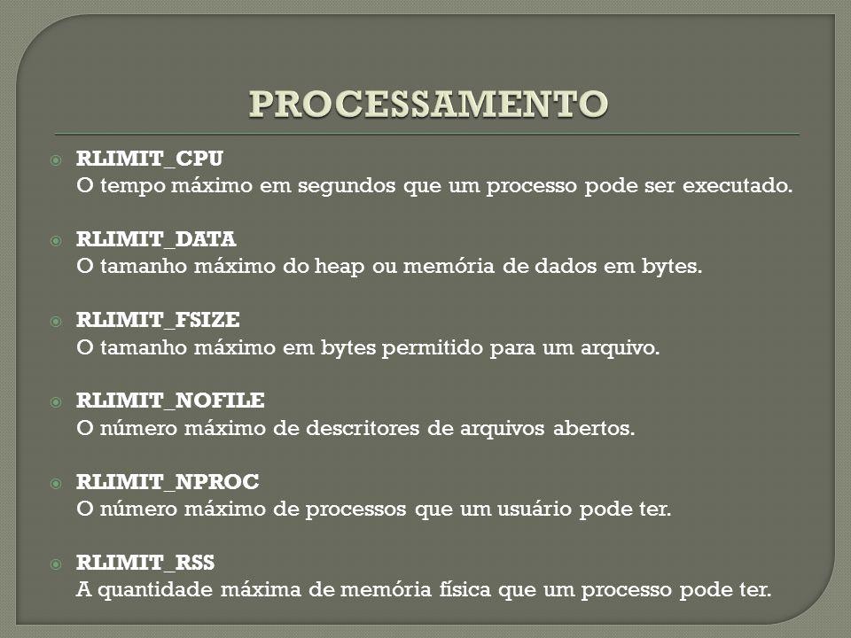 PROCESSAMENTO RLIMIT_CPU
