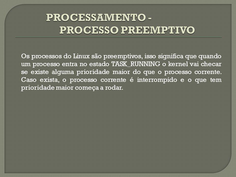 PROCESSAMENTO - PROCESSO PREEMPTIVO