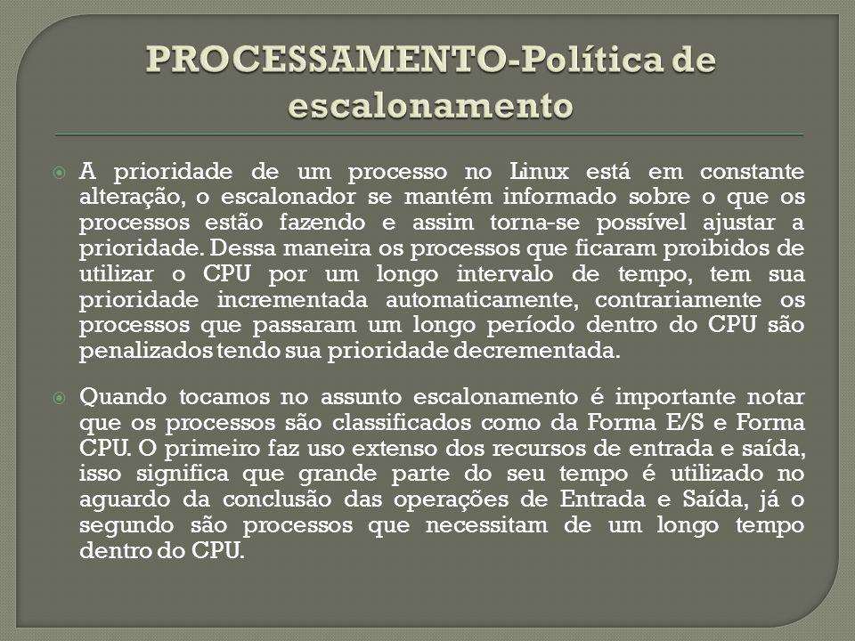 PROCESSAMENTO-Política de escalonamento