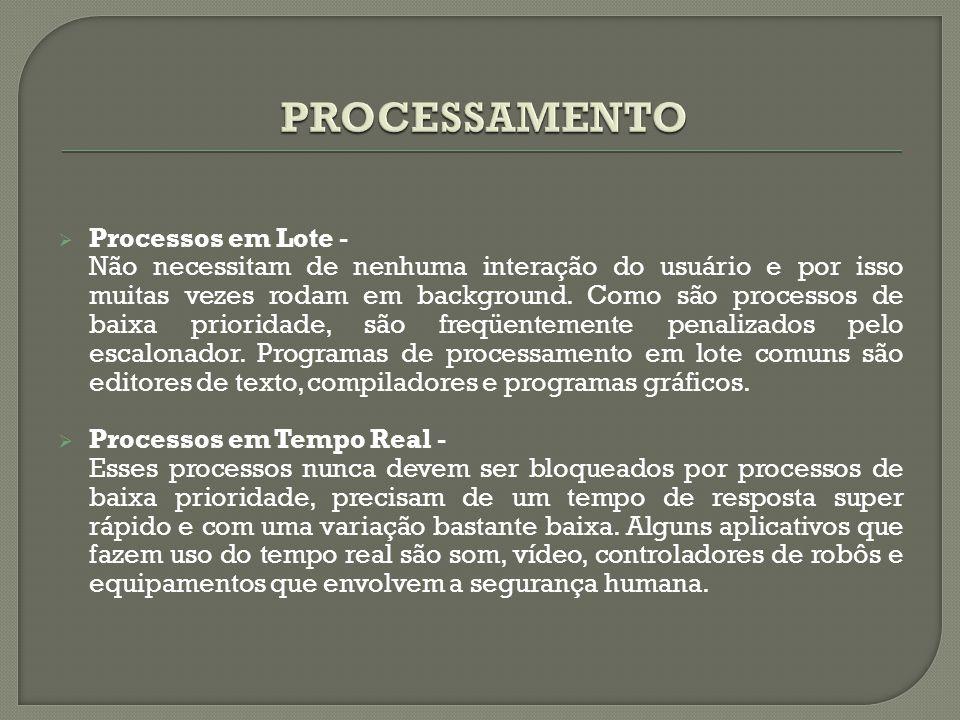 PROCESSAMENTO Processos em Lote -