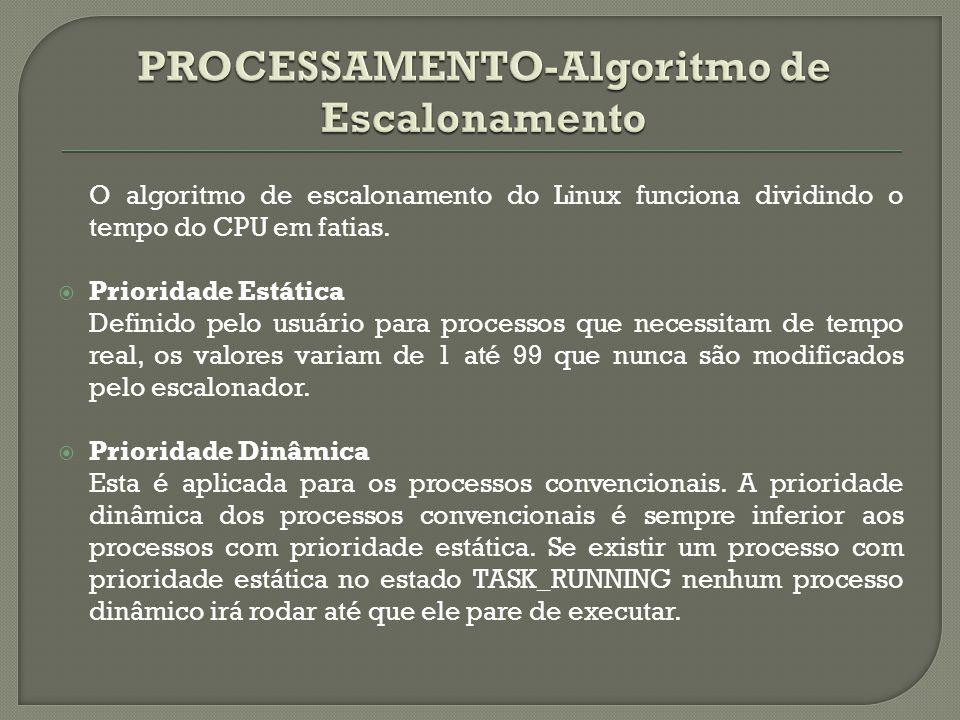PROCESSAMENTO-Algoritmo de Escalonamento