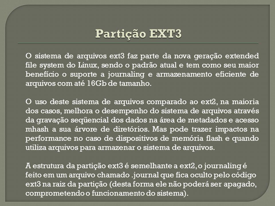 Partição EXT3