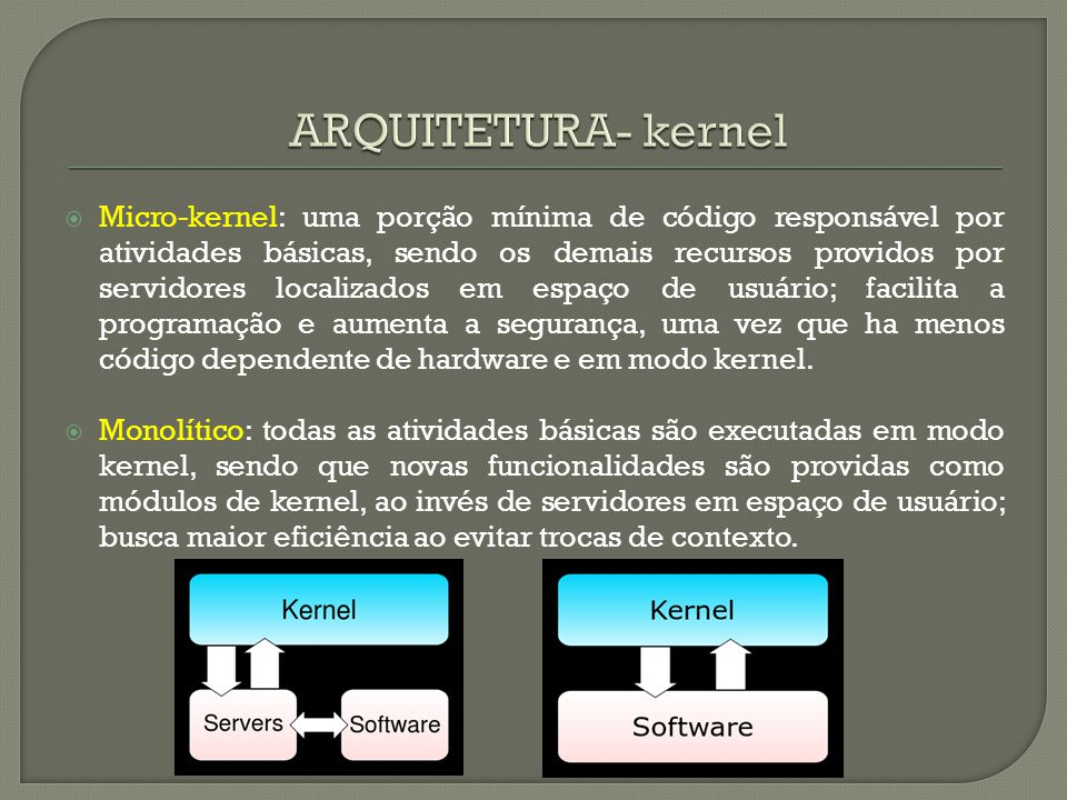 ARQUITETURA- kernel