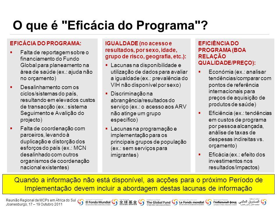 O que é Eficácia do Programa