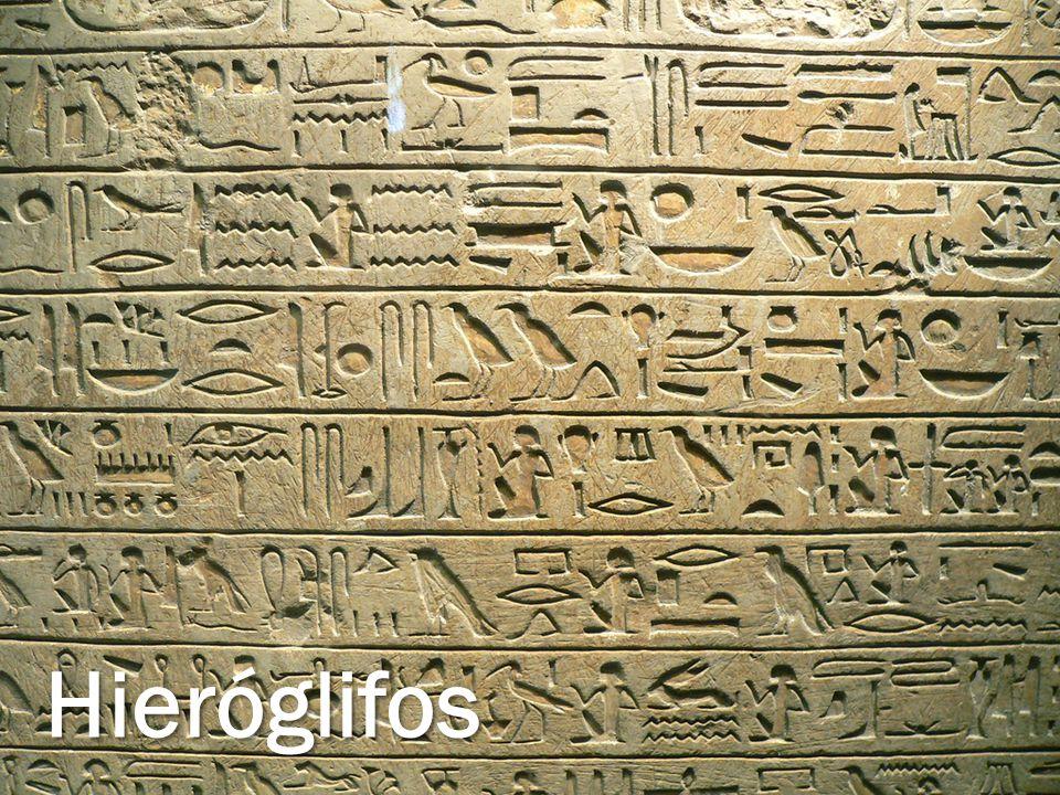 A arte no egito Hieróglifos
