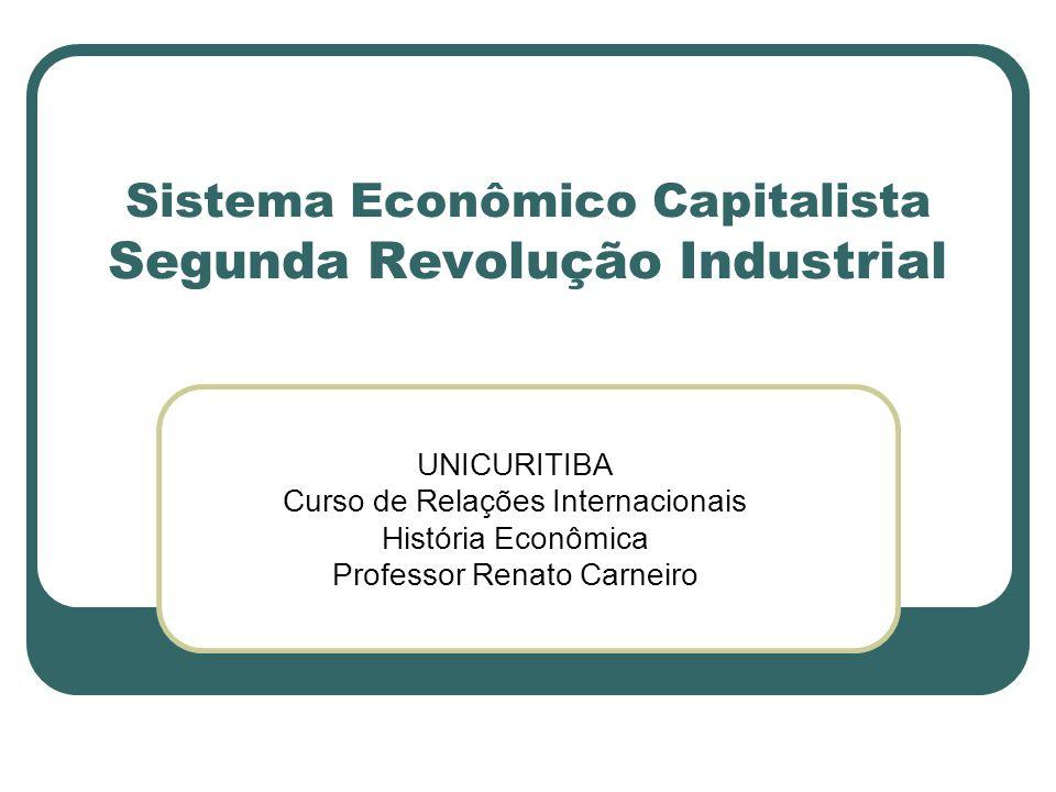 Sistema Econômico Capitalista Segunda Revolução Industrial
