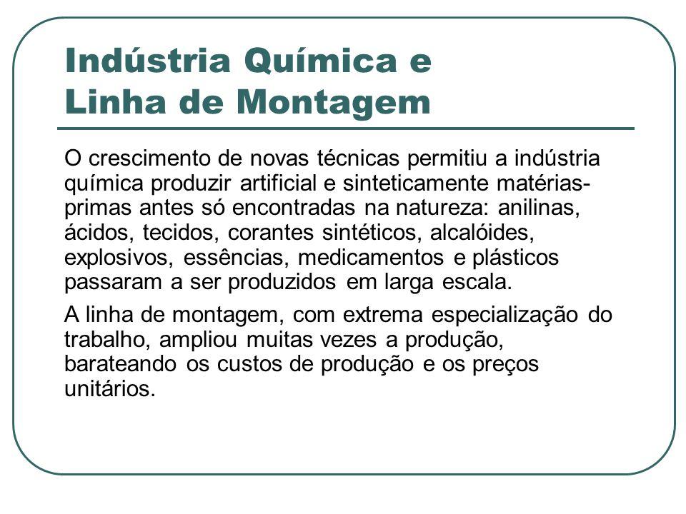 Indústria Química e Linha de Montagem