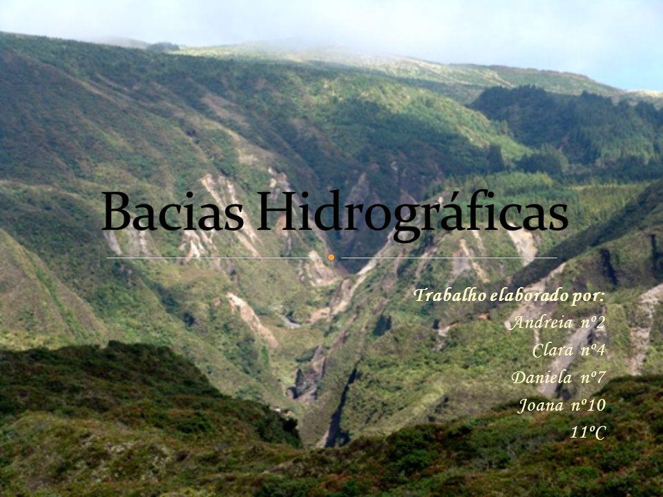 Bacias Hidrográficas Trabalho elaborado por: Andreia nº2 Clara nº4