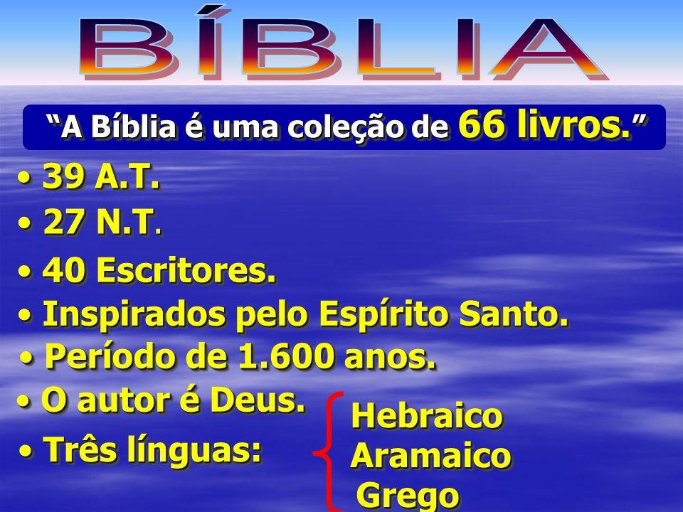 BÍBLIA 39 A.T. 27 N.T. 40 Escritores. Inspirados pelo Espírito Santo.