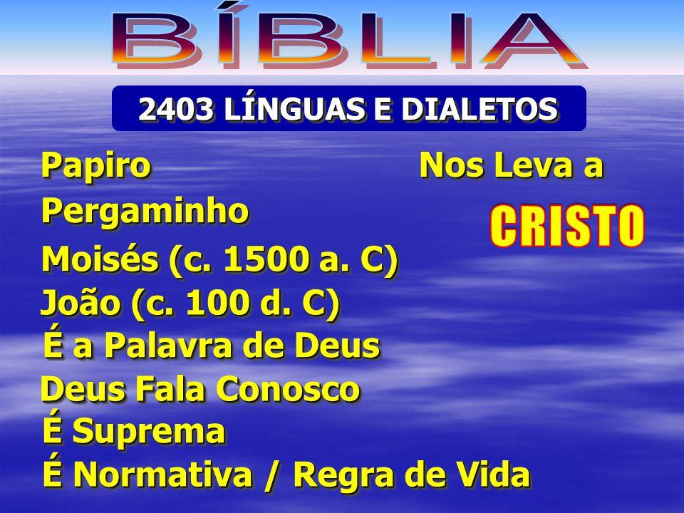 BÍBLIA CRISTO Papiro Nos Leva a Pergaminho Moisés (c. 1500 a. C)