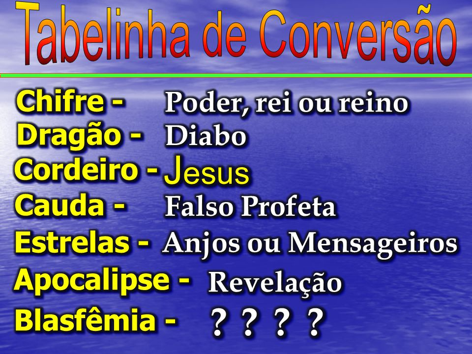 Tabelinha de Conversão