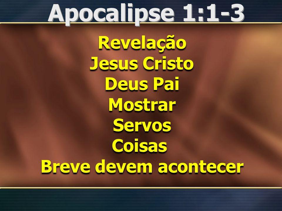 Apocalipse 1:1-3 Revelação Jesus Cristo Deus Pai Mostrar Servos Coisas