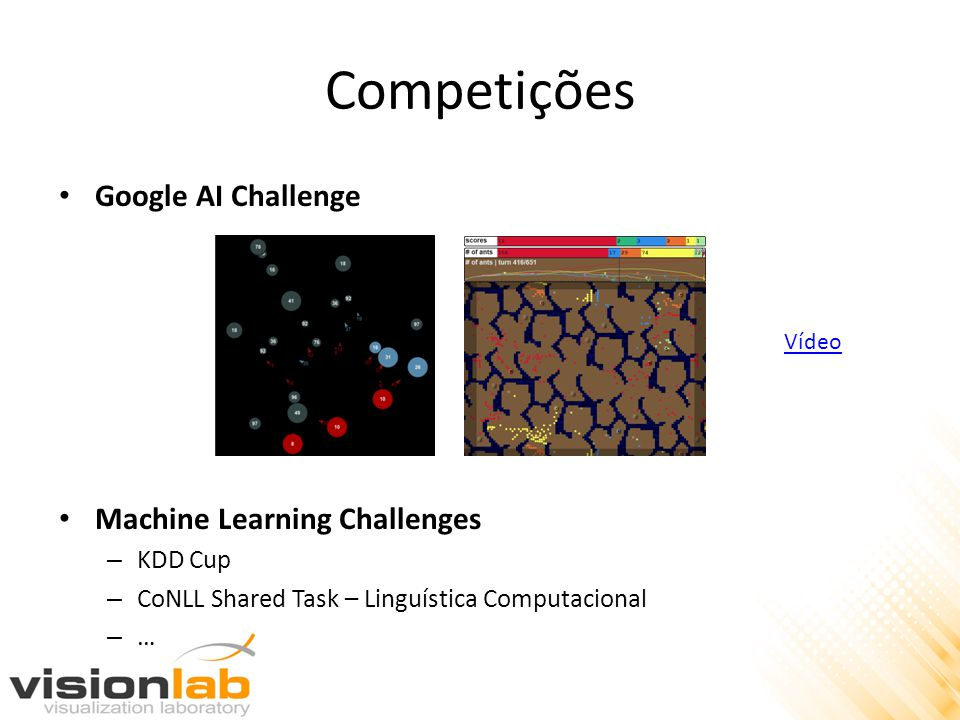 Competições Google AI Challenge Machine Learning Challenges KDD Cup