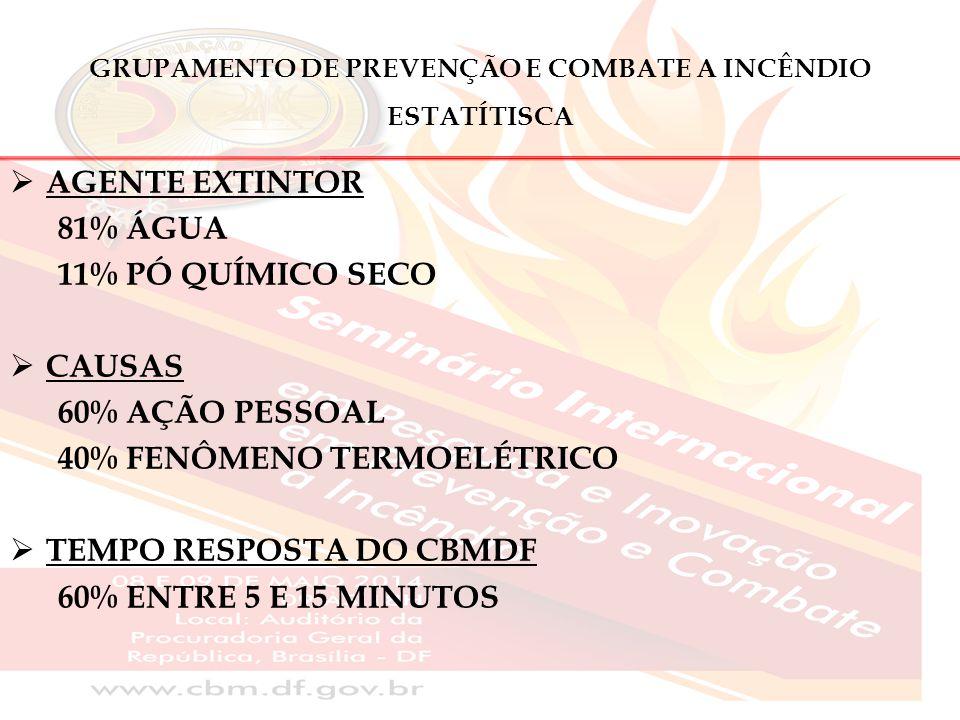 GRUPAMENTO DE PREVENÇÃO E COMBATE A INCÊNDIO ESTATÍTISCA