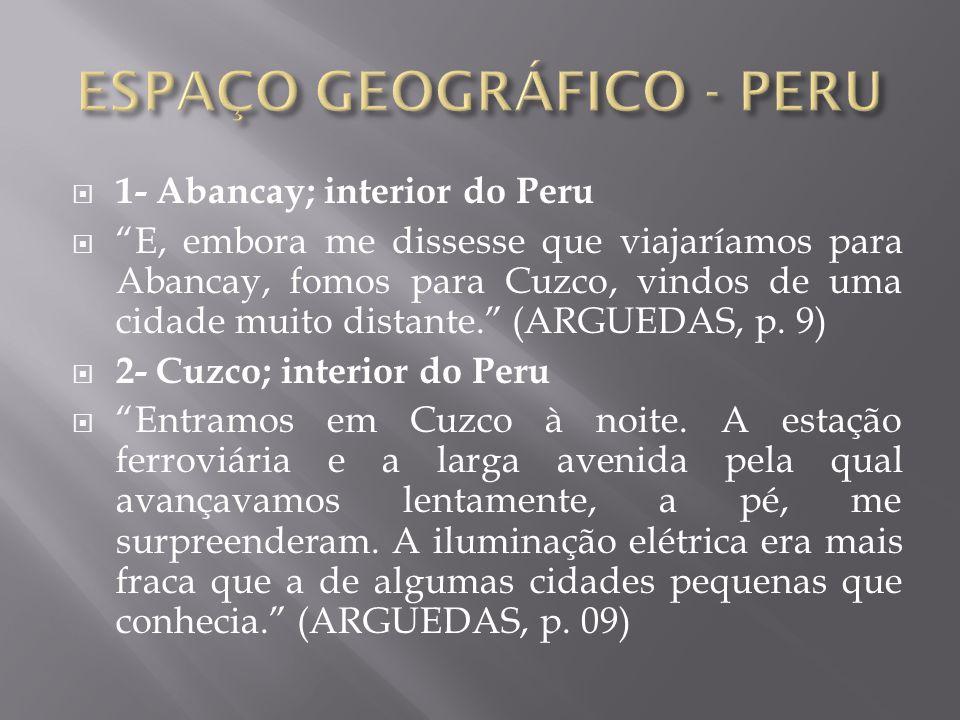 ESPAÇO GEOGRÁFICO - PERU