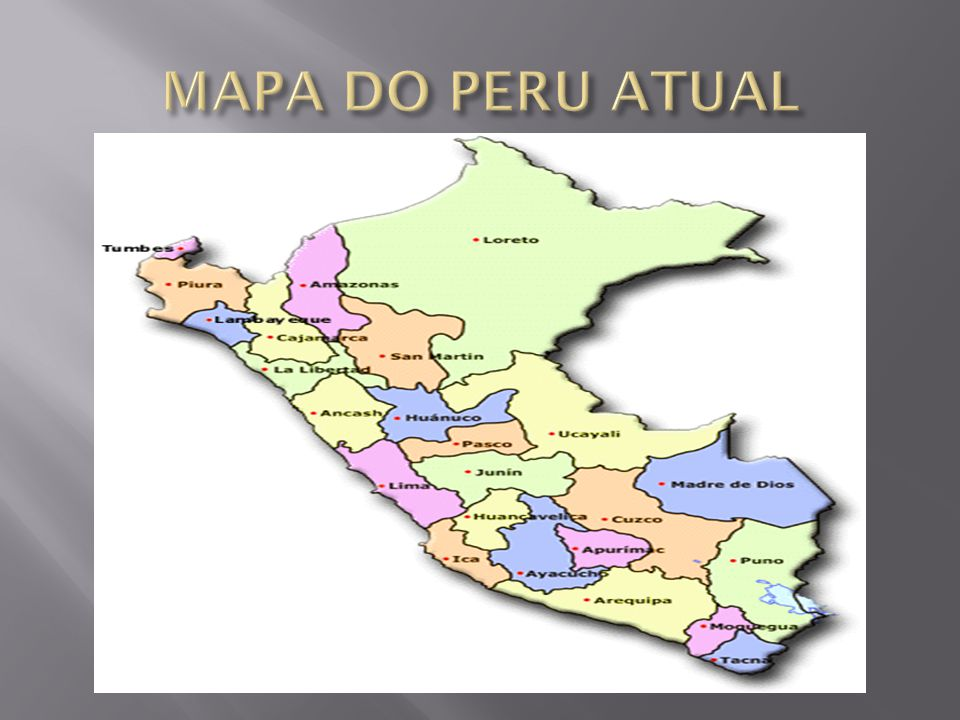 MAPA DO PERU ATUAL