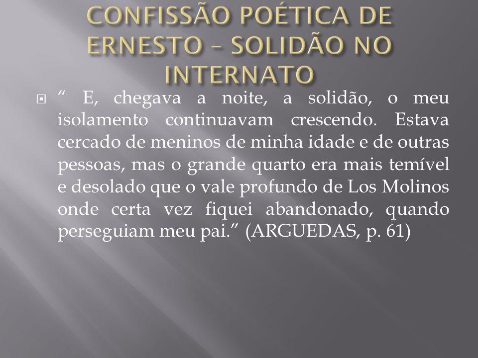 CONFISSÃO POÉTICA DE ERNESTO – SOLIDÃO NO INTERNATO