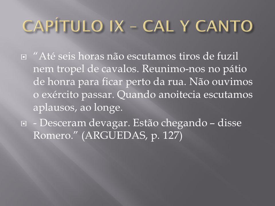 CAPÍTULO IX – CAL Y CANTO