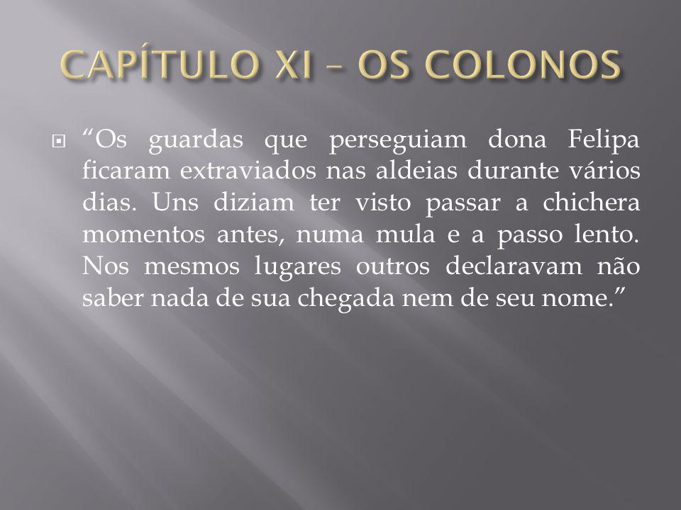 CAPÍTULO XI – OS COLONOS