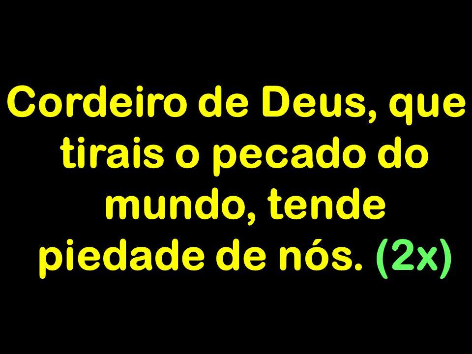 Cordeiro de Deus, que tirais o pecado do mundo, tende piedade de nós