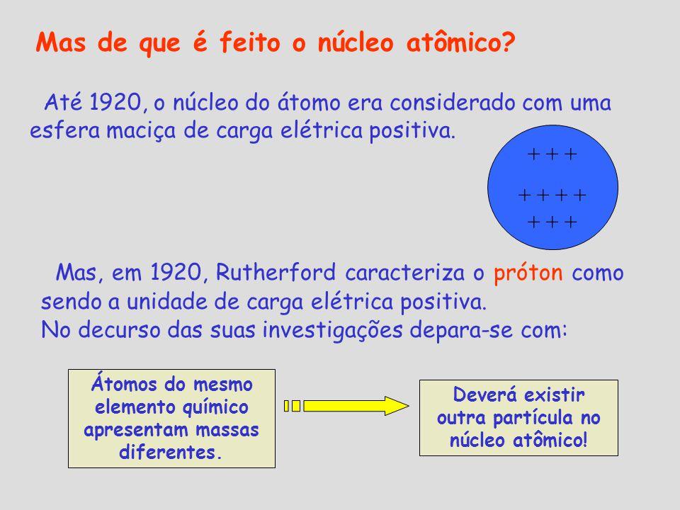 Mas de que é feito o núcleo atômico