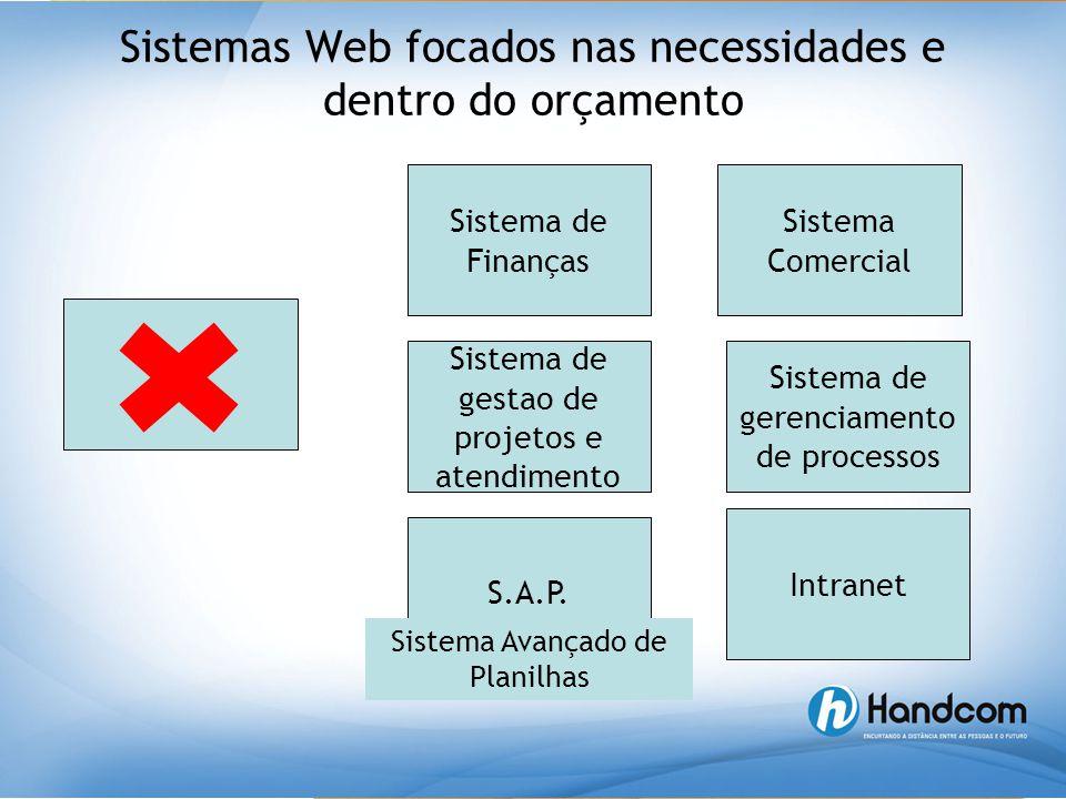 Sistemas Web focados nas necessidades e dentro do orçamento