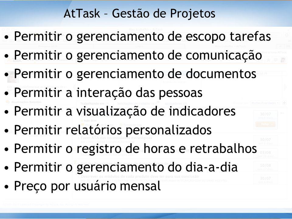 AtTask – Gestão de Projetos