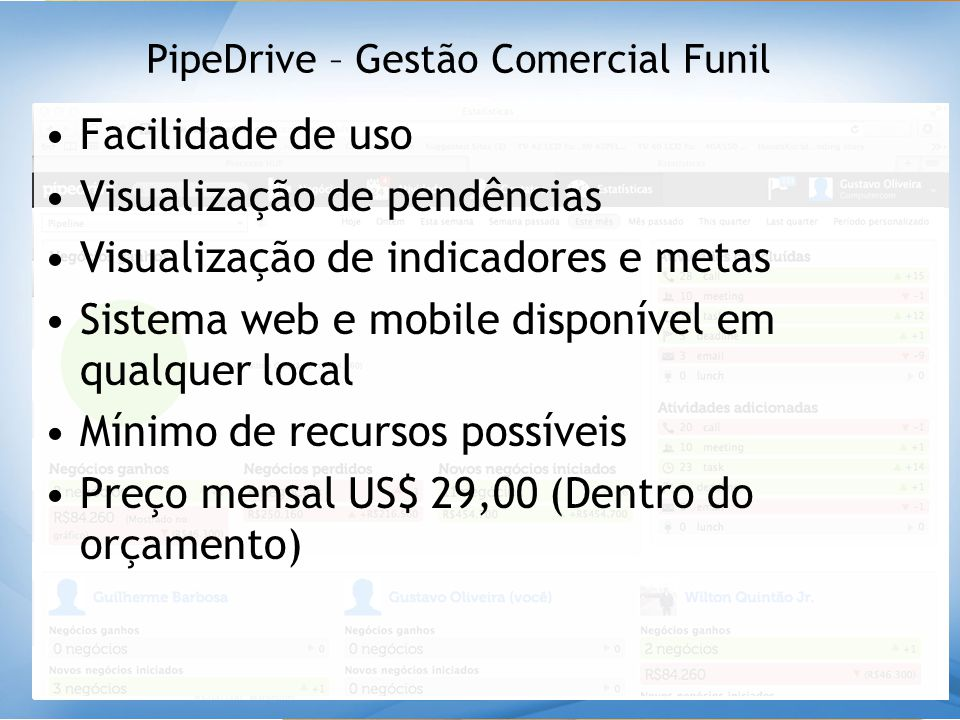 PipeDrive – Gestão Comercial Funil