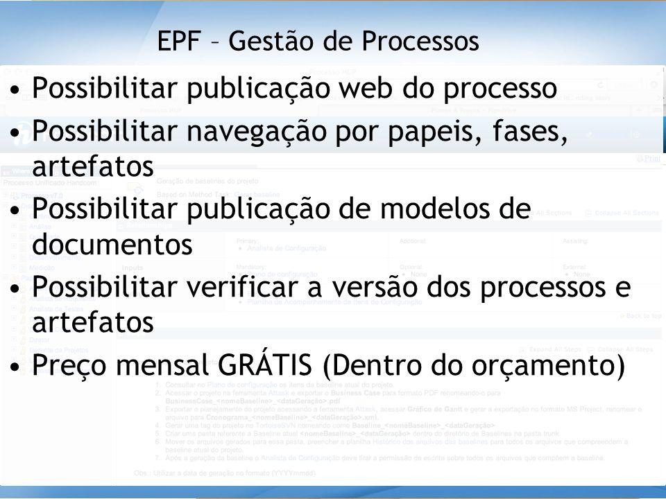 EPF – Gestão de Processos