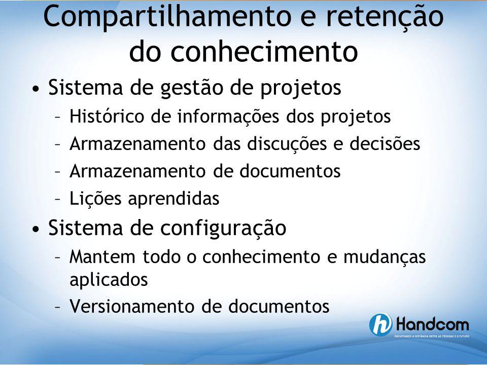 Compartilhamento e retenção do conhecimento