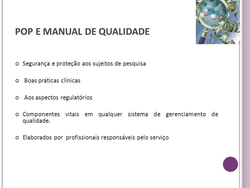 POP E MANUAL DE QUALIDADE