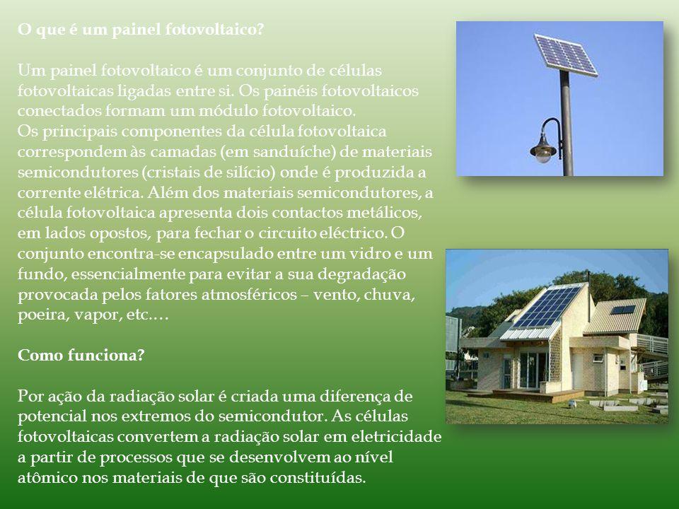 O que é um painel fotovoltaico